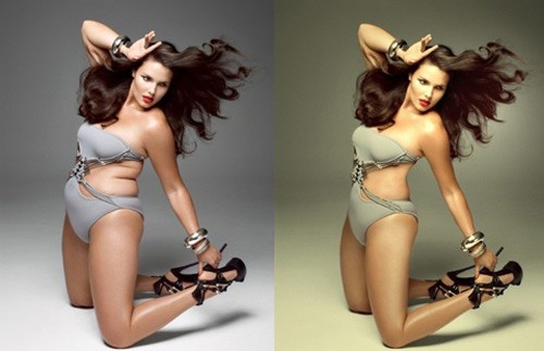 celebrities before and after photoshop, fat girl with stomach rolls