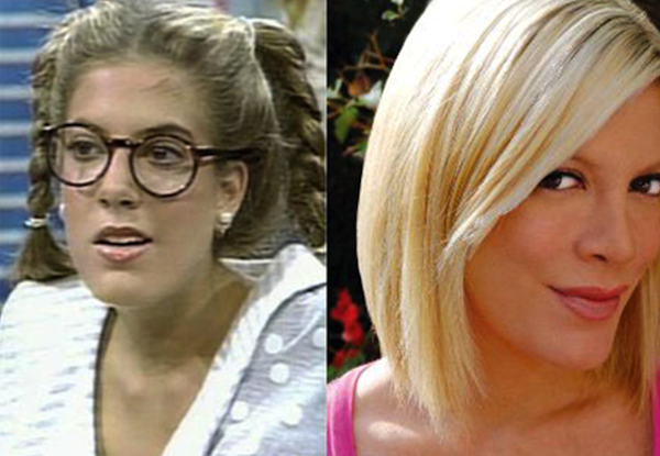 hot girls who played ugly, hot girl ugly tv character, tori spelling saved by the bell