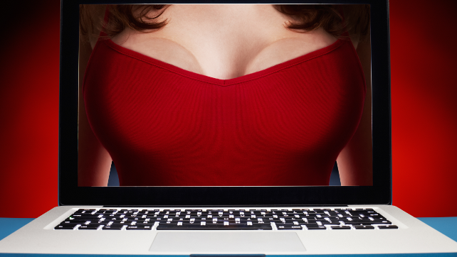 Boobs-On-Laptop-Online-Dating