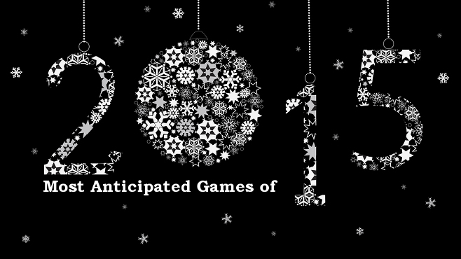 Best of 2015 most anticipated video games of 2015 mandatory happy new year 2015 greeting card from white snowflakes m4hsunfo