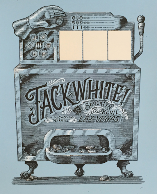 Jack White scratch-off poster