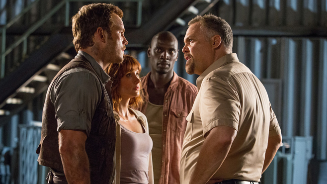 Jurassic World Chris Pratt Bryce Dallas Howard Omar Sy Vincent D'Onofrio