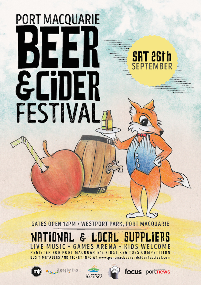 Port Macquarie Beer and Cider Festival 2015 poster supplied