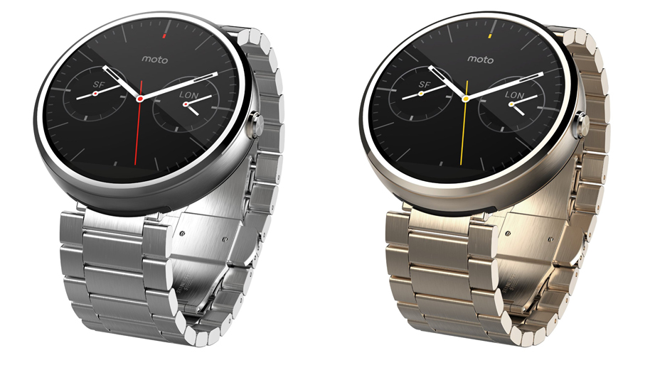 23mm Moto 360 in Light Metal and Champagne Gold.