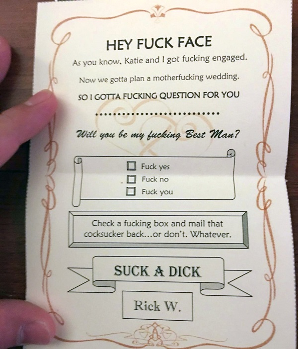 The Only Way To Ask Someone Be Your Best Man