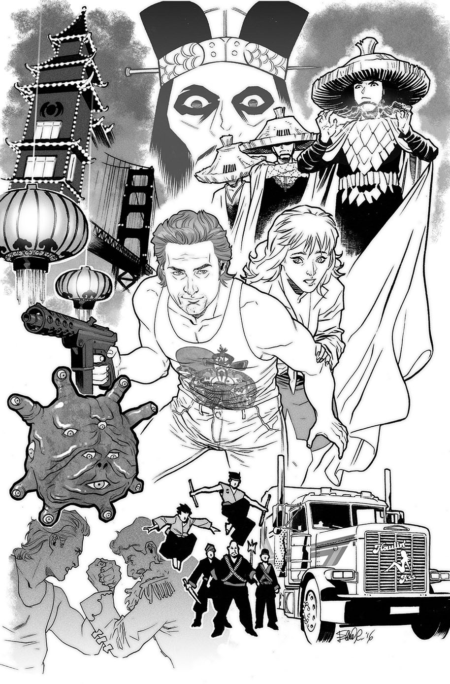 Big Trouble in Mother Russia Novel Illustrattion