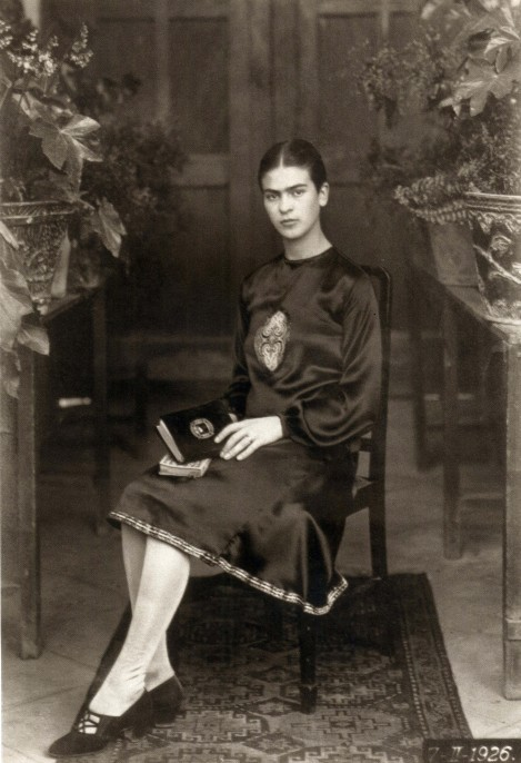 Guillermo Kahlo (Mexican, born Germany, 1872-1941). Frida Kahlo at 18, Mexico, 1926. Gelatin silver print, 6 1/2 x 4 1/2 in. On loan from Throckmorton Fine Art.