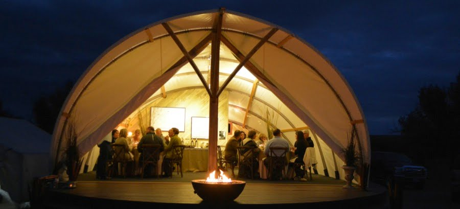 Autonomous Tents have been used for galas and dinners. Photo courtesy of Autonomous Tent Co.