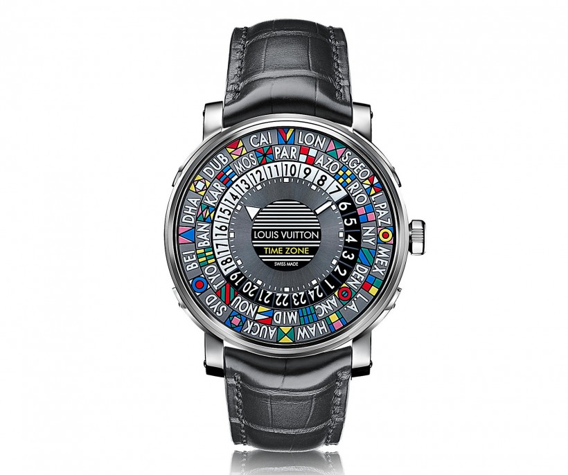 Louis Vuitton Escale Time Zone comes with a leather band and a large dial. Courtesy of Louis Vuitton.