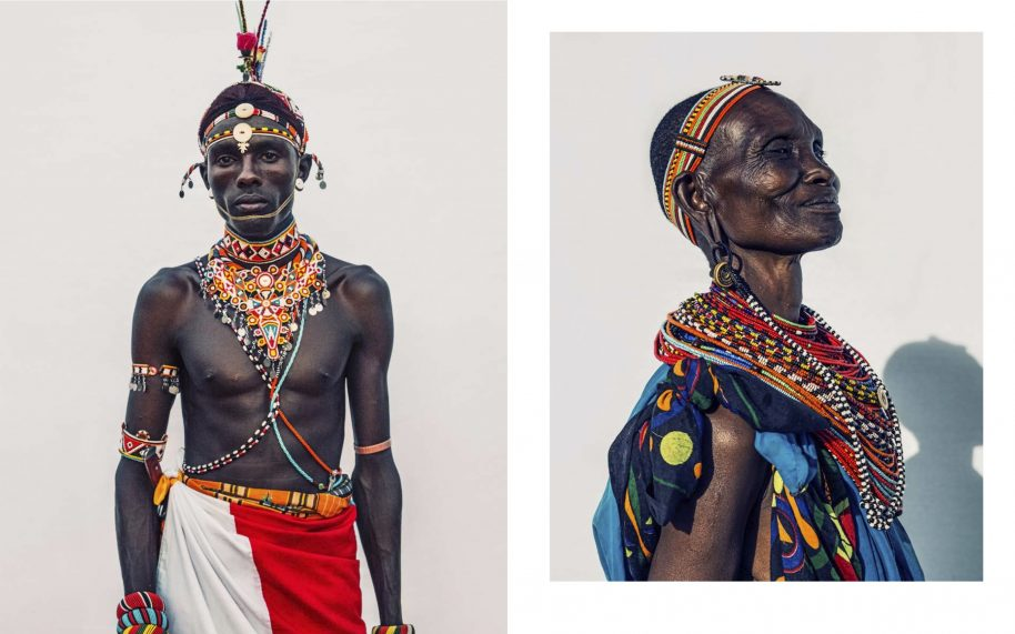 Samburu Warriors, photograph by Dirk Rees