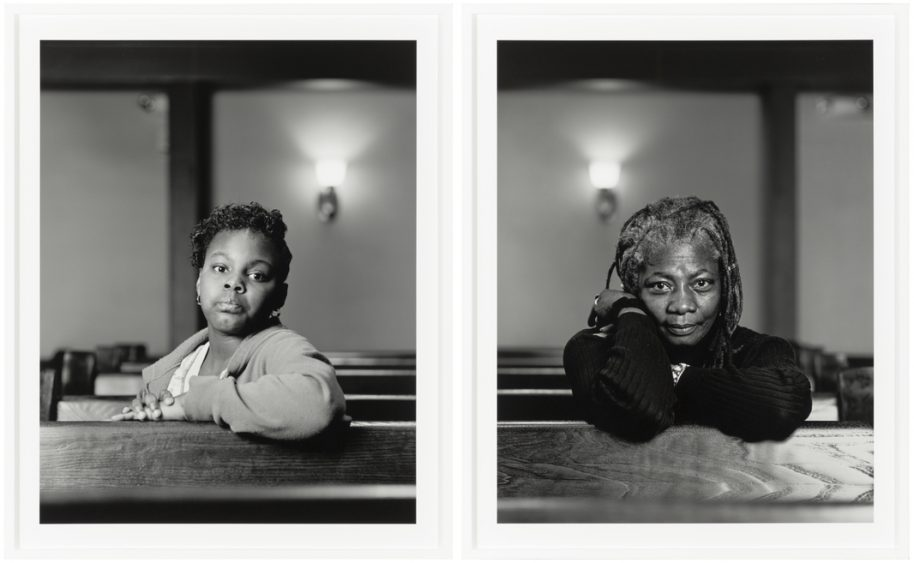 Dawoud Bey American, b. 1953 The Birmingham Project: Mathes Manafee and Cassandra Griffin 2012 Archival pigment prints mounted on Dibond Diptych, each sheet: 40 × 32 in. (101.6 × 81.3 cm) Collection Museum of Contemporary Art Chicago Restricted gift of Pamela J. Joyner and Alfred J. Giuffrida, and Mary and Earle Ludgin by exchange 2014.8.a-b Photo: Nathan Keay, © MCA Chicago