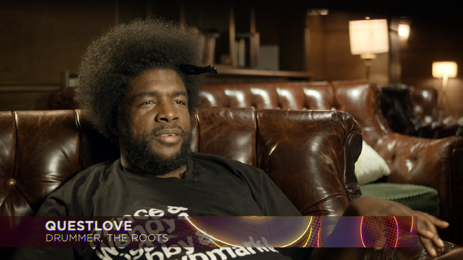 Questlove in still from 808