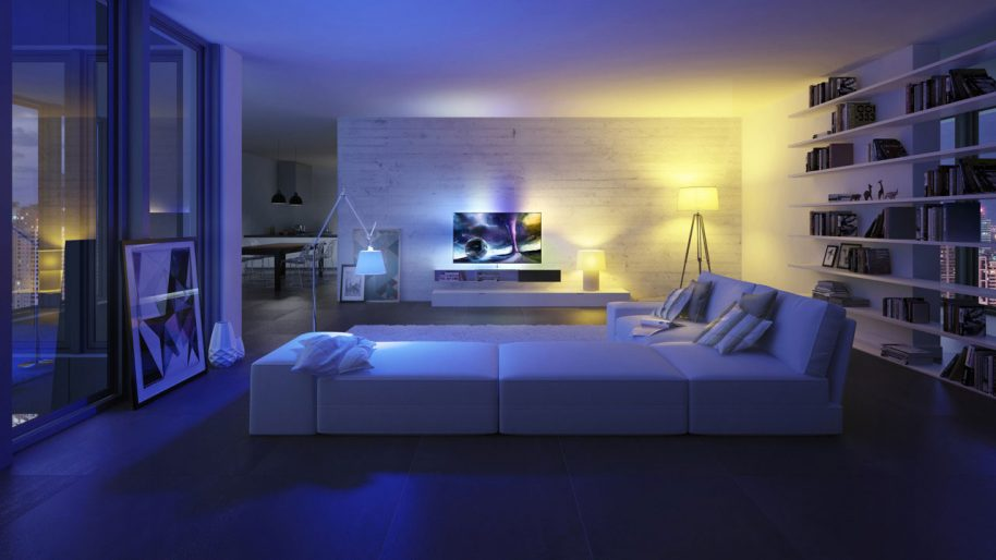 A home lit by Philips wireless lighting. Photo courtesy of Philips.