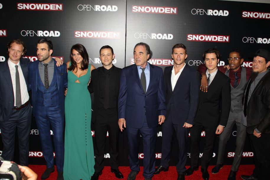 Cast of Snowden at the NYC premiere of Snowden - Photo By Getty Images