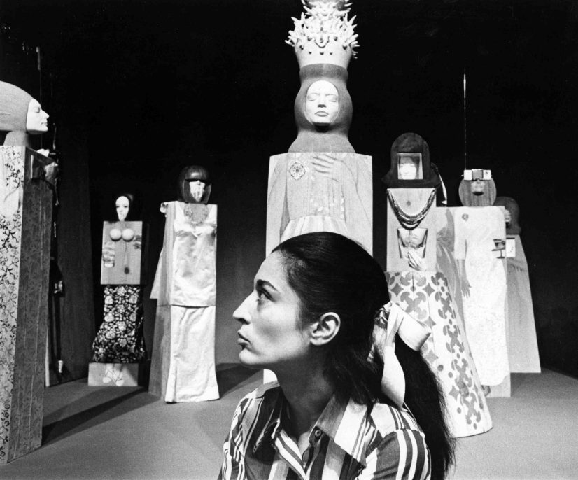 Artist Maria Sol Escobar, known as Marisol, photographed in 1968. (Photo by Jack Mitchell/Getty Images)