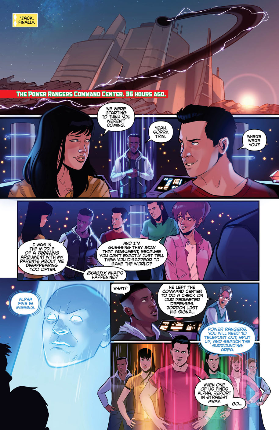 Justice League Power Rangers 1 page 4