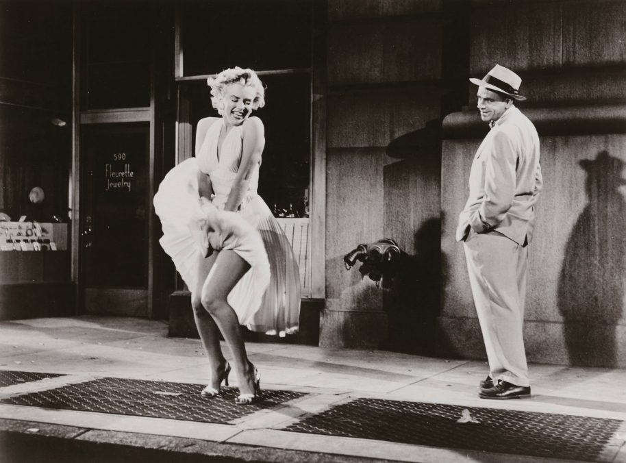 Sam Shaw, Marilyn Monroe and Tom Ewell in The Seven Year Itch, Director: Billy Wilder, 1954. Gelatin silver print C. Sam Shaw Inc.- licensed by Shaw Family Archives, Private collection