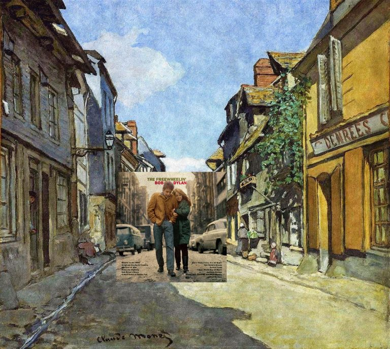 The Freewheelin Bob Dylan + The La Rue Bavolle by Claude Monet
