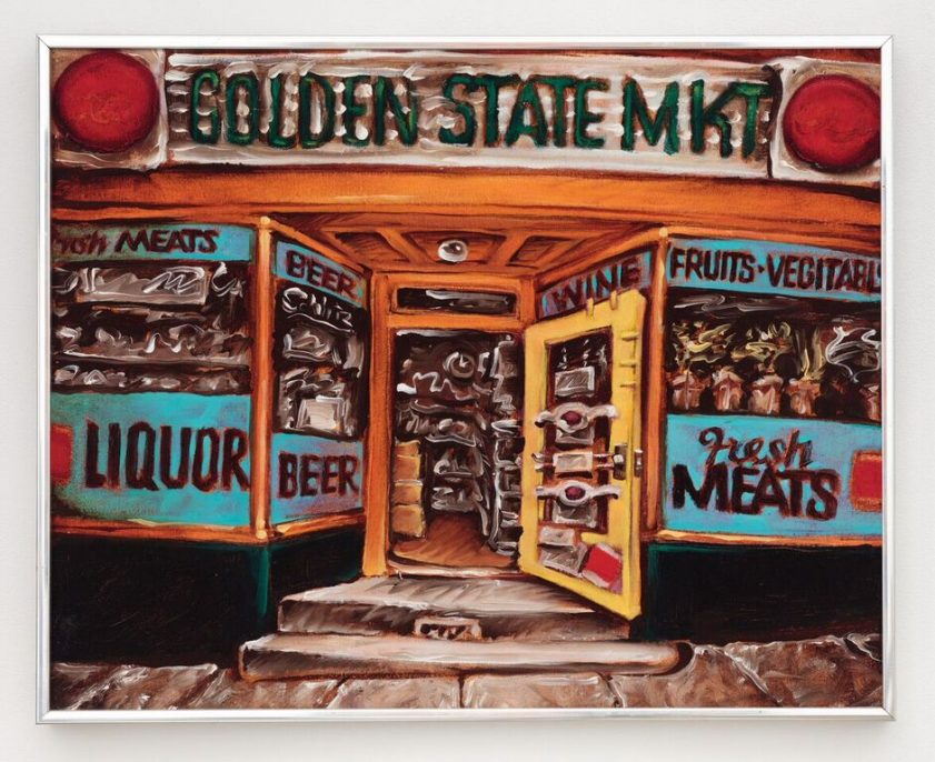 Martin Wong, Golden State MKT (storefront)_ 1974_16.25x20.25x1.25 (small). Courtesy of P.P.O.W.