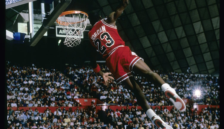 On This Date Michael Air Jordan Won His First Slam Dunk Title