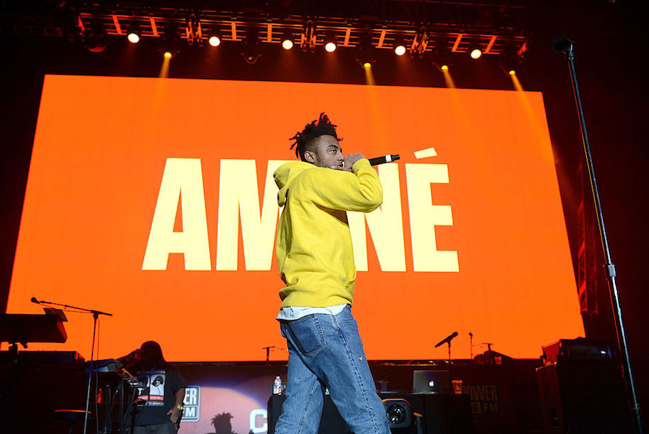 INGLEWOOD, CA - DECEMBER 02: Rapper Amine performs onstage during Power 106 Cali Christmas at The Forum on December 2, 2016 in Inglewood, California. (Photo by Scott Dudelson/FilmMagic)