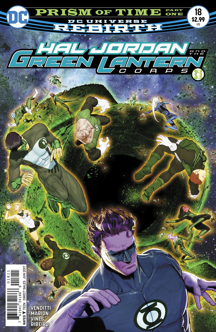 Hal Jordan and the Green Lantern Corps 18 cover