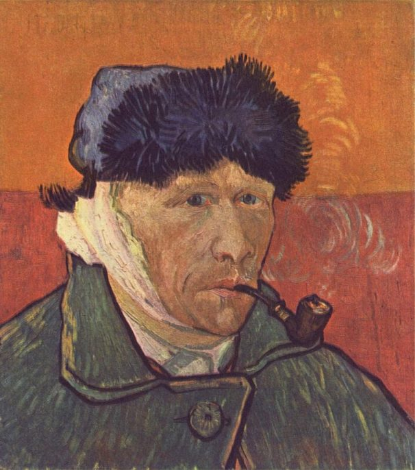 Vincent van Gogh. Self-Portrait with Bandaged Ear. Oil on canvas, 1889. Courtesy of Wikimedia Commons.