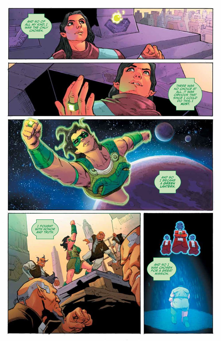 Planet of the Apes Green Lantern 4 page 3