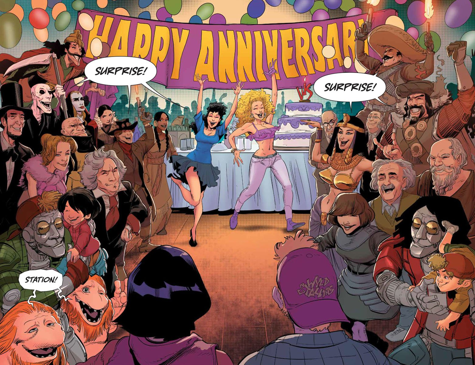 Bill & Ted Save the Universe 1 pages 6 and 7
