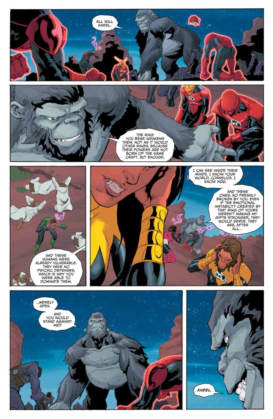 Planet of the Apes Green Lantern 5 page 7
