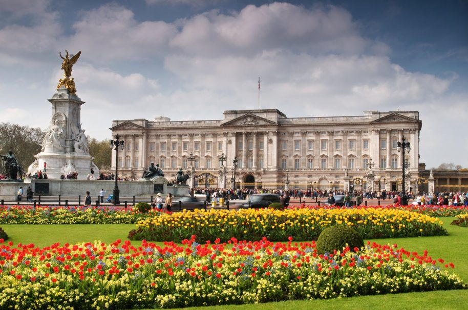 Buckingham Palace in London, England.