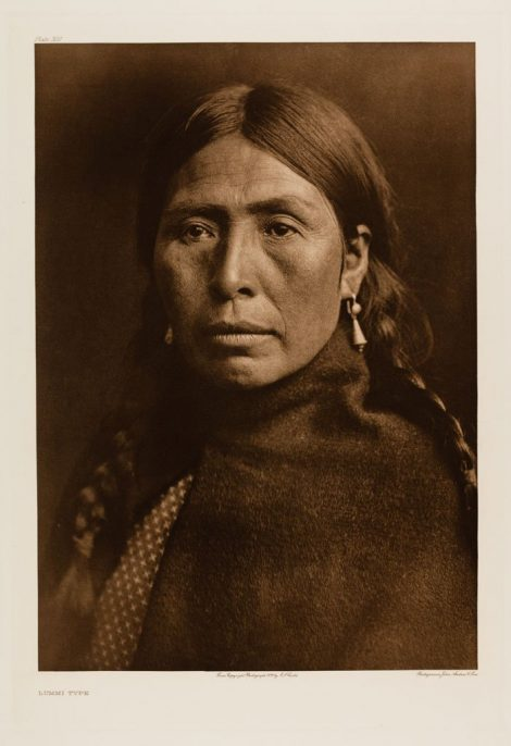 Edward Sherriff Curtis. The North American Indian. Portfolio 9, Plate 320. Lummi Type, 1899, Photogravure.