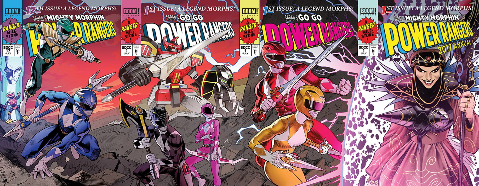 Power Rangers Jim Lee X-Men Cover Homage by Dan Mora