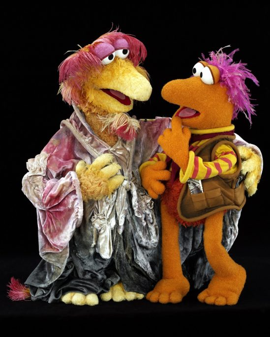From Fraggle Rock, the wise minstrel Cantus (performed by Jim Henson) and Gobo, leader of the Fraggles. Photo by John E. Barrett. © The Jim Henson Company.. Credit: The Jim Henson Company / Museum of the Moving Image