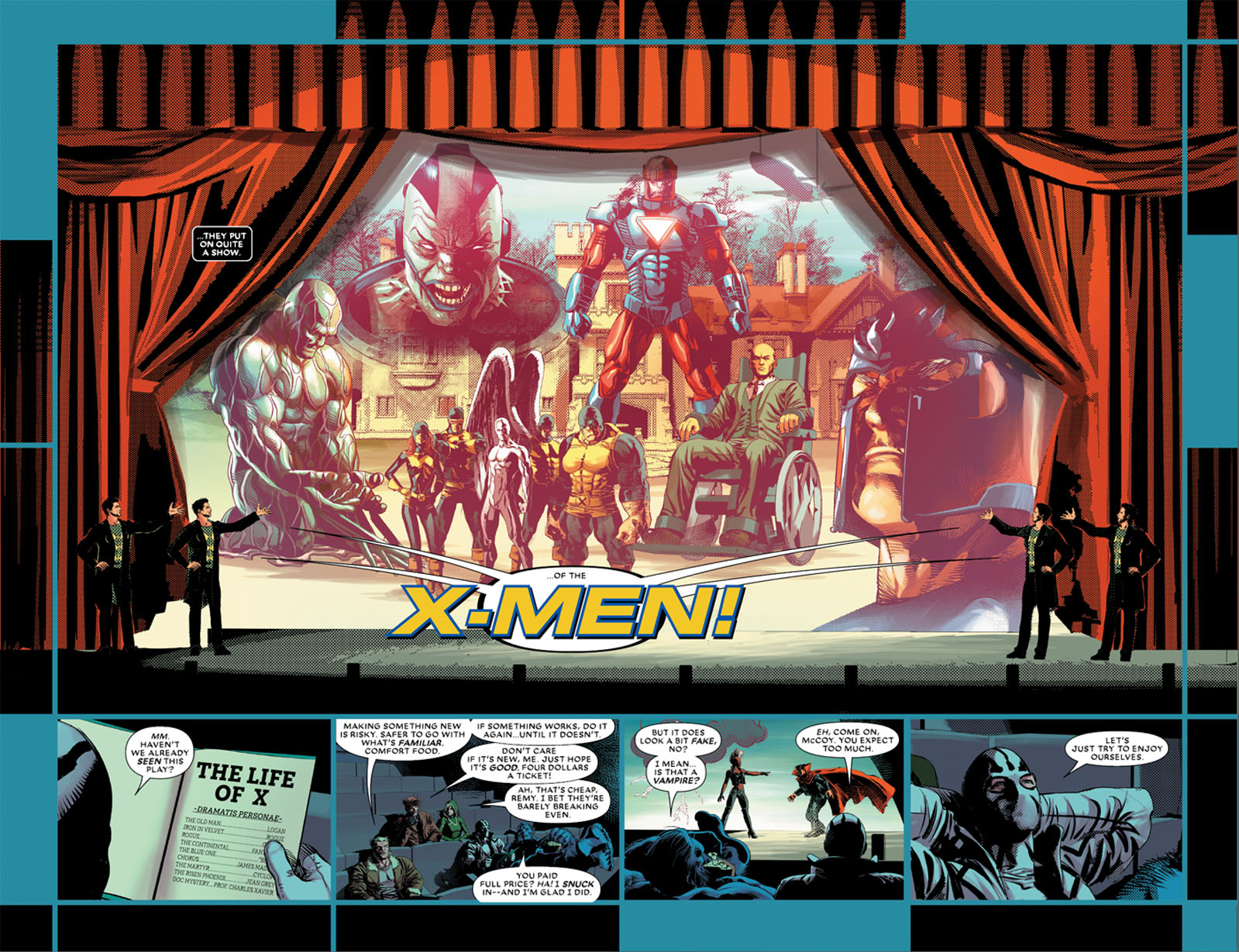 Astonishing X-Men 2 pages 2 and 3