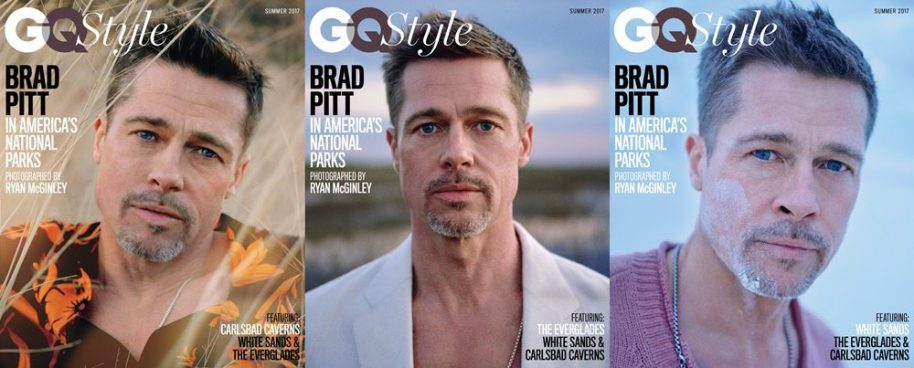 Brad Pitt, GQ Cover Photos by Ryan McGinley exclusively for GQ Style, 2017.