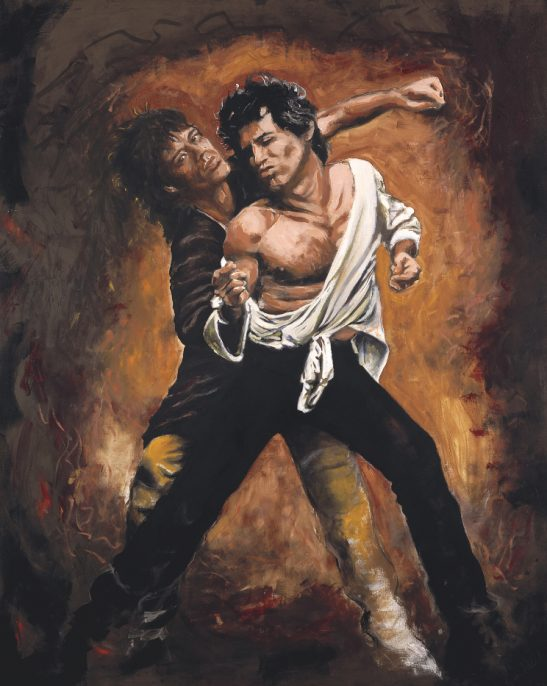 Keith and Mick Staged, 1989 Oil on canvas 152.5 x 122 cm © 2017 Ronnie Wood