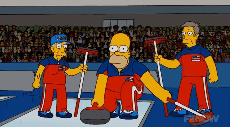 'The Simpsons' Seriously Predicted The USA Curling Team Would Beat Sweden For Gold