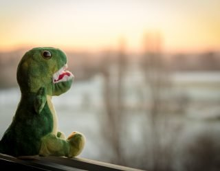 National Guard Officer In Hot Water For Using A Dinosaur Puppet During Her Re-Enlistment Oath