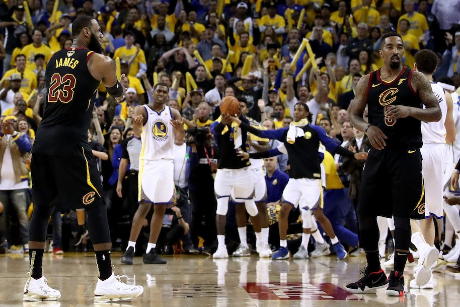 jr smith game 1, cleveland cavaliers, golden state warriors, lebron james