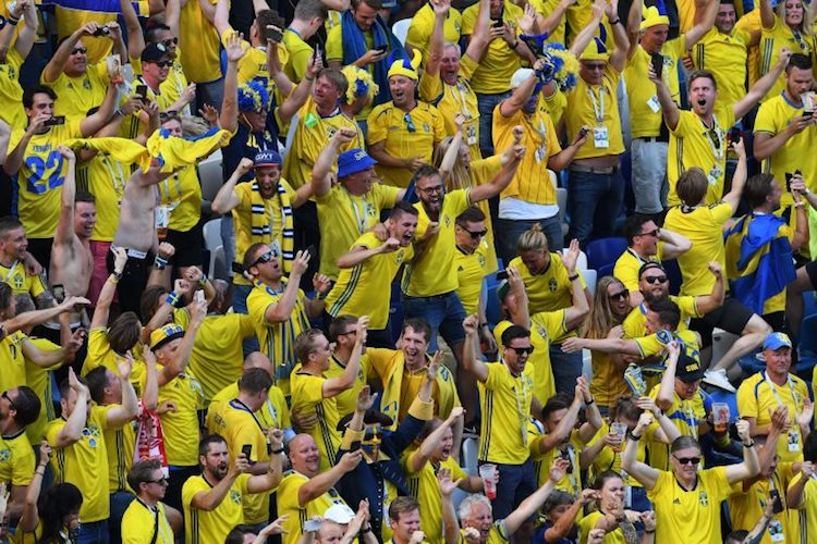 swedish fans wold cup 2018