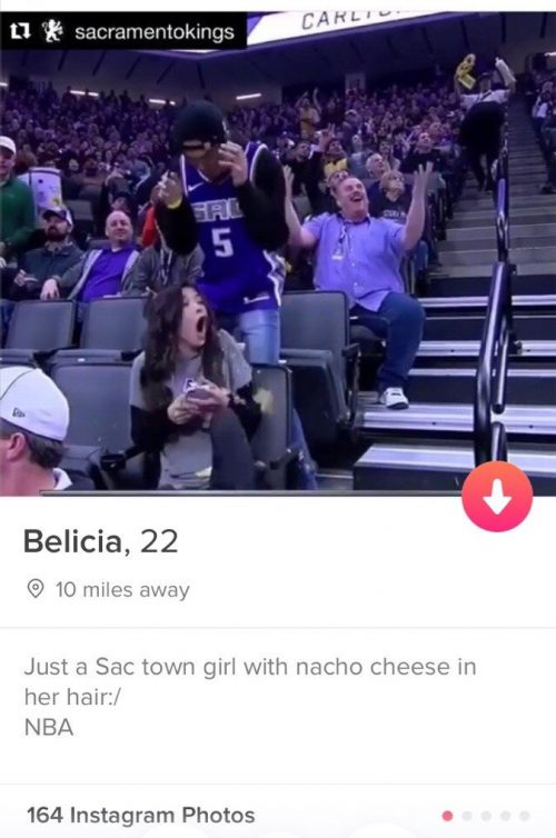 Funny Tinder bios Kings fan