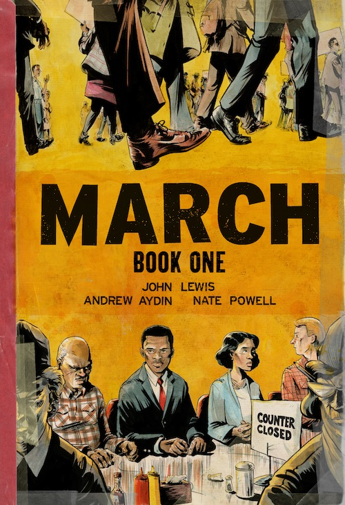 1. MARCH: BOOK ONE by John Lewis, Andrew Aydin & Nate Powell
