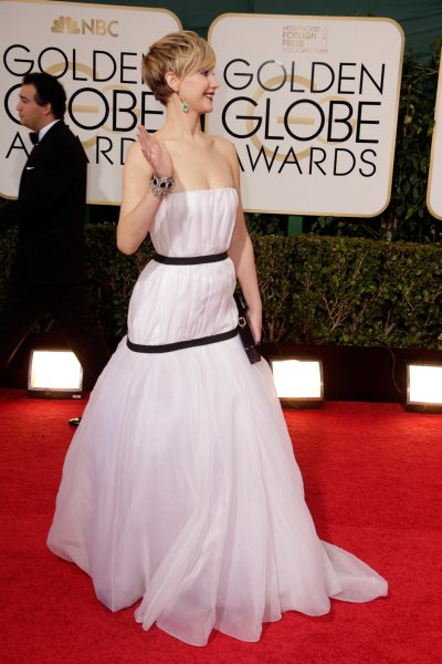 Actress Jennifer Lawrence attends the 71st Annual Golden Globe Awards