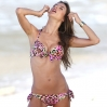 Model Alessandra Ambrosio poses in a bikini for Victoria Secret