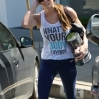 Ashley Greene seen leaving the gym in West Hollywood wearing top saying 'What's Your Body Saying' Featuring: Ashley Greene Where: LA, United States When: 16 Mar 2014 Credit: WENN.com
