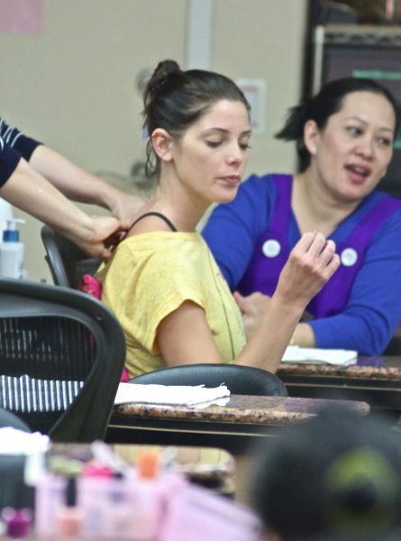 Ashley Greene gets a manicure and pedicure at Beverly Hills Nails and Spa Featuring: Ashley Greene Where: Los Angeles, CA, United States When: 28 May 2013 Credit: STMC/WENN.com