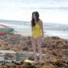 Ashley Greene shows off her beach body in a vintage-inspired bathing suit on the set of 'The Shangri-La Suite' shooting on location in Redondo Beach. The actress, who is depicting Priscilla Presley in the movie, was spotted lying on the beach reading a book during a scene. Featuring: Ashley Greene Where: Redondo Beach, California, United States When: 07 Mar 2014 Credit: Cousart/JFXimages/WENN.com