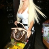 Courtney Stodden shopping late at night at Pavilion on Santa Monica Boulevard in West Hollywood