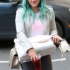 Hilary Duff showing off her new hair color out and about in Los Angeles Featuring: Hilary Duff Where: Los Angeles, California, United States When: 18 Mar 2015 Credit: WENN.com